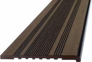 Ступень ДПК Экодек полнотелая, 345x23,5х4000 мм, цвет венге (темно-коричневый)