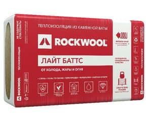 Теплоизоляционная минераловатная плита из каменной ваты (1000х600мм) Rockwool / Роквул Лайт Баттс 100