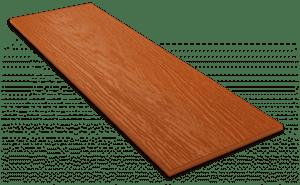 Фиброцементный сайдинг Decover / Дековер, размер 3600х190 мм, цвет Terracotta (Ral 8023 оранжево-коричневый)