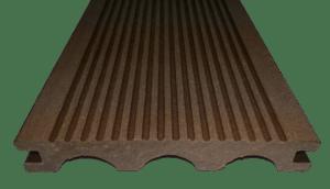 Террасная (палубная) доска Дарволекс полнотелая, 150х24х6000 мм, цвет шоколад (светло-коричневый)
