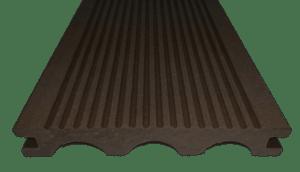 Террасная (палубная) доска Дарволекс полнотелая, 150х24х6000 мм, цвет венге (темно-коричневый)