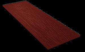 Фиброцементный сайдинг Decover / Дековер, размер 3600х190 мм, цвет Tinto (Ral 3005 красное вино)