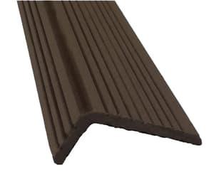 Уголок для террасной доски Экодек / Дарволекс, 35x70х4000 мм, цвет шоколад (светло-коричневый)