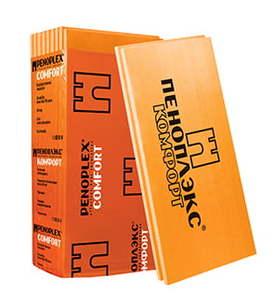 Утеплитель Пеноплэкс Комфорт / Penoplex 25-35 кг/м3, размеры 40х585х1185 мм, упаковка 0,25 м3 (9 плит)