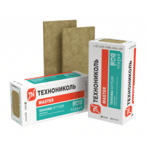 Утеплитель ТЕХНОФАС КОТТЕДЖ Технониколь 95-115 кг/м3, размеры 150х600х1200 мм, упаковка 0,216 м3 (2 плиты)