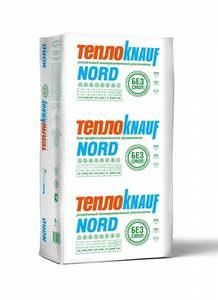 Утеплитель ТеплоКнауф Норд / ТеплоKNAUF NORD 17-18 кг/м3, размеры 100х610х1230 мм, упаковка 0,45 м3 (6 плит)