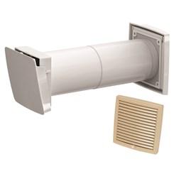 WIVE 100 приточный клапан (приточ. клапан с термостатом, фильтр, бежевая вент.решетка 380030+793321)