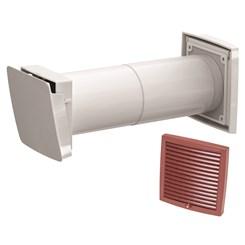 WIVE 100 приточный клапан (приточ. клапан с термостатом, фильтр, красная вент. решет. 380030+793328)