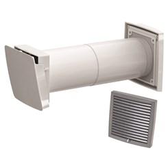 WIVE 100 приточный клапан (приточ. клапан с термостатом, фильтр, серая вент. решетка 380030+793327)