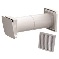 WIVE 100 приточный клапан (приточ. клапан с термостатом, фильтр, св.-серая вент. реш. 380030+793323)
